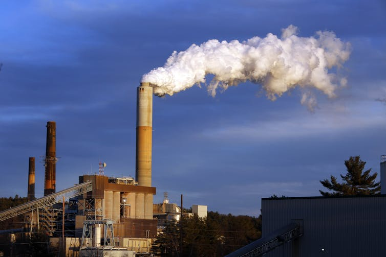 A coal plant in the US state of New Hampshire