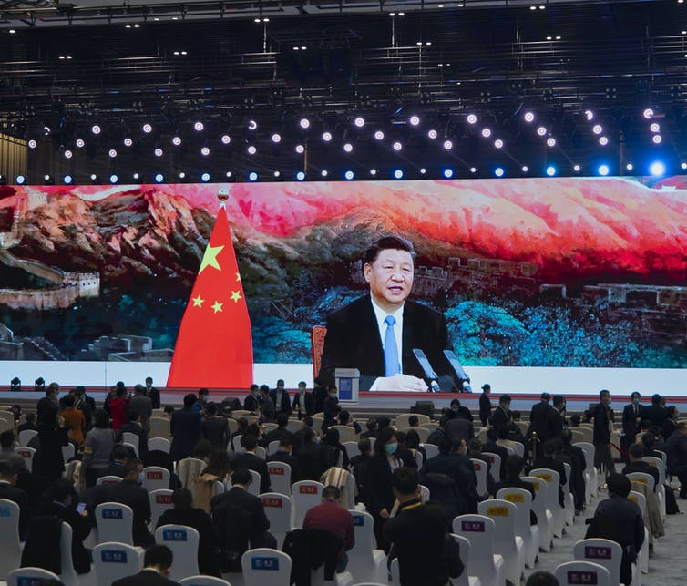 Chinese president Xi Jinping addresses recent World Internet Conference in Wuzhen, China