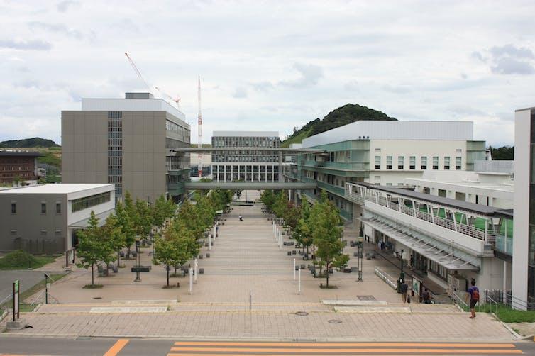 A university campus.