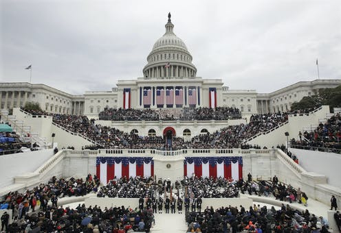 The U.S. Capitol during President Donald Trump's 2017 inauguration