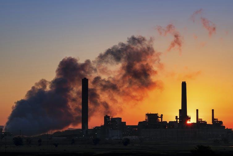 A coal plant
