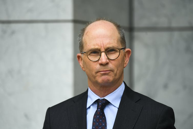 Australian Chief Medical Officer Paul Kelly at a press conference