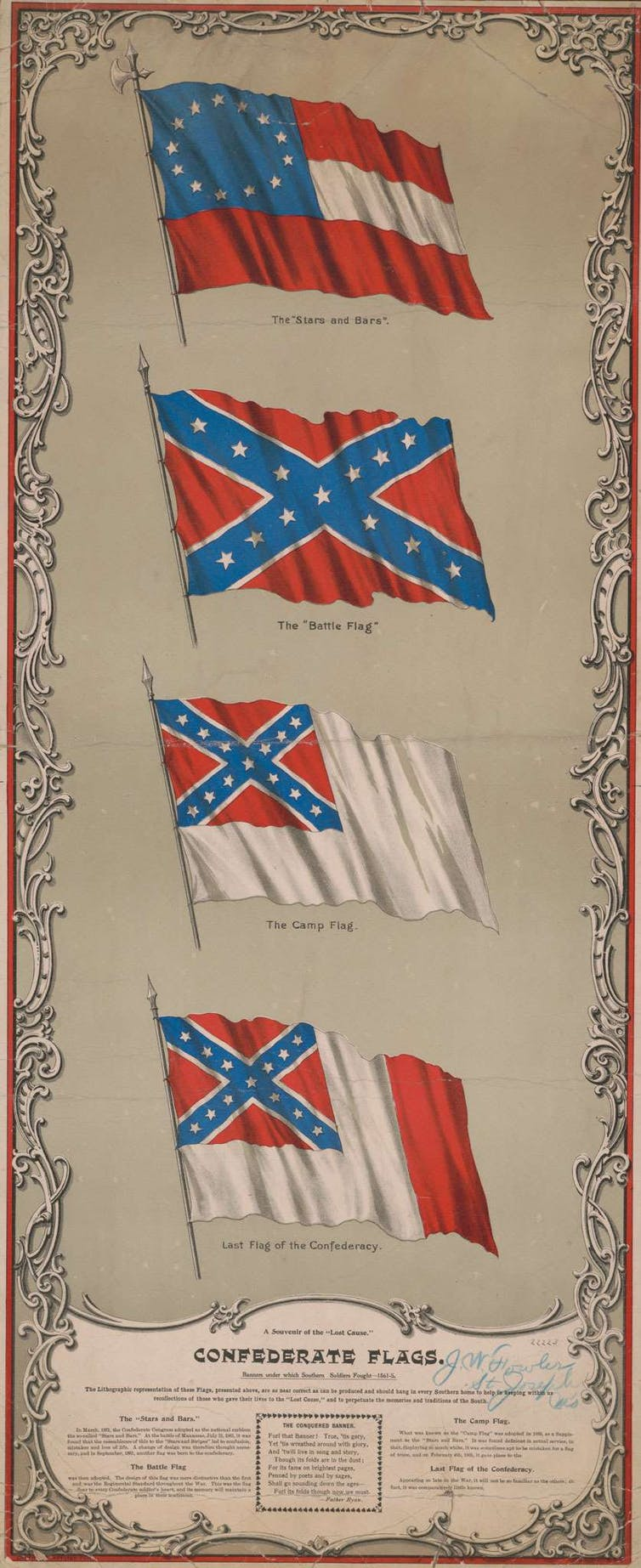 Four flags of the Confederacy