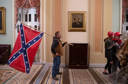 The Confederate battle flag in the US Capitol
