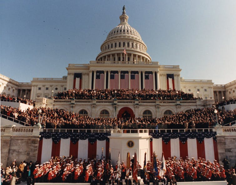 The Capitol during Bill Clinton's inauguration