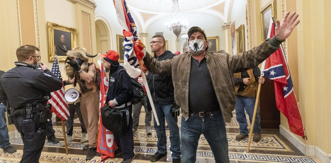 Symbols of white supremacy flew proudly at the Capitol riot – 5 essential reads