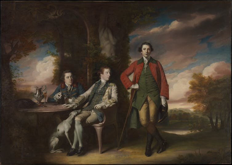 Henry Fane (1739–1802) with Inigo Jones and Charles BlairRegency painting of