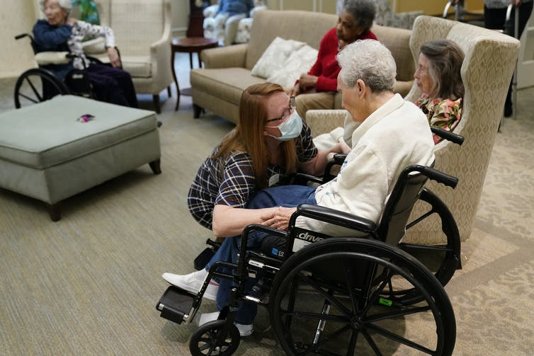 Residents at a nursing home in the United States.