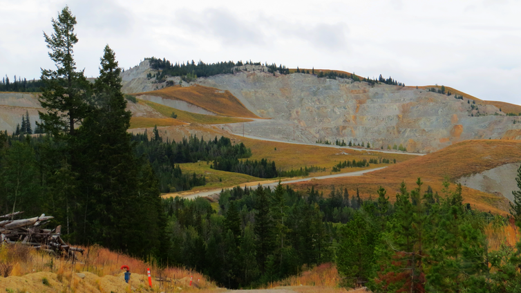 Mountaintop mine in northern British Colombia.
