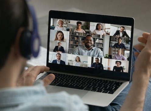 A videoconferencing screen.