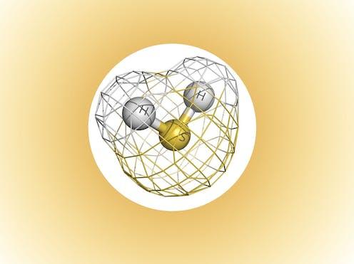 Illustration of a hydrogen sulfide molecule