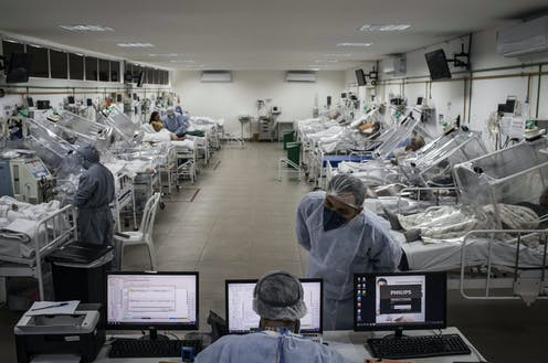 COVID patients being treated at a hospital in Manaus