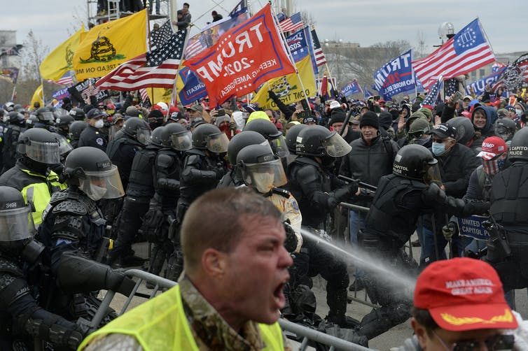Trump supporters clash with police Jan. 6