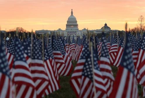 Drapeaux américains sur le National Mall