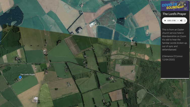 An aerial photograph of fields in rural Aberdeenshire.