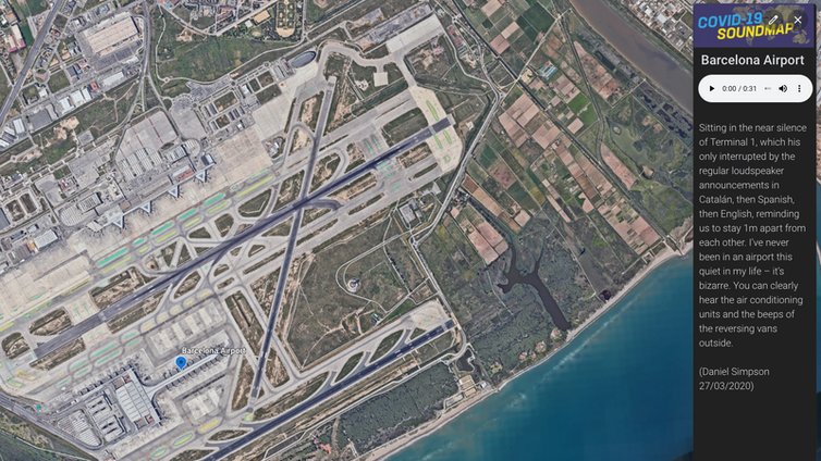 Aerial photograph of Barcelona Airport.