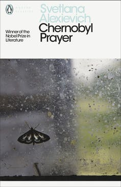 Front cover of a book reading 'Chernobyl Prayer'.