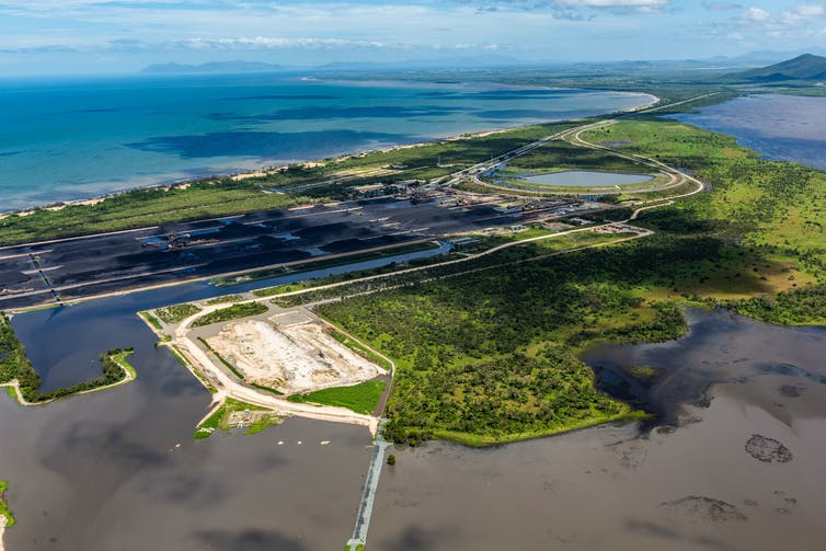 Caley Valley Wetlands,  next to Adani's Abbot Point coal terminal.