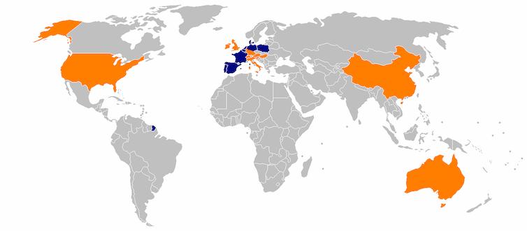 Map of Aldi stores worldwide