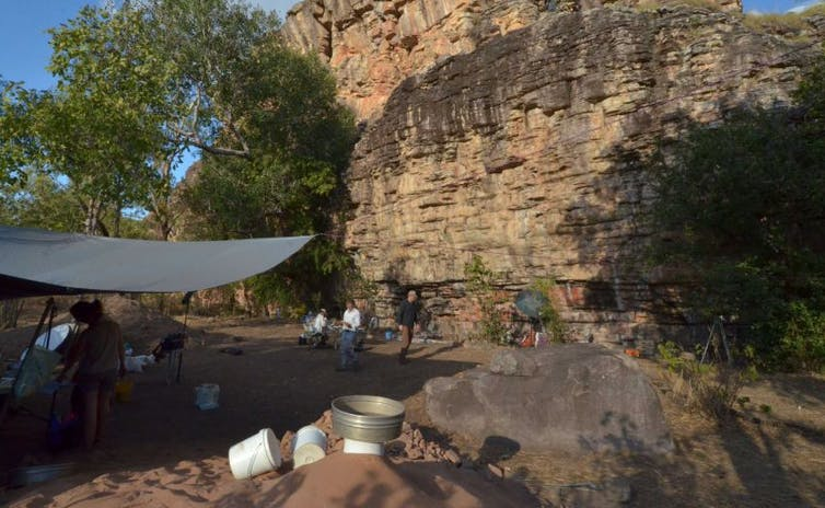 A site at the Madjedbebe is rock shelter in the Northern Territory.