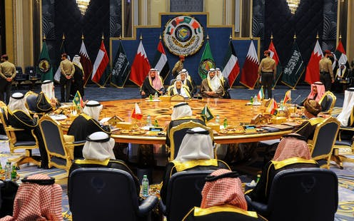 Leaders of Gulf States in Kuwait for the 2017 meeting of the Gulf Cooperation Council.