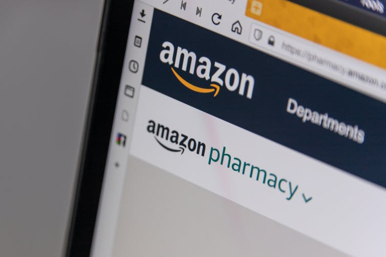 screen showing Amazon pharmacy web page