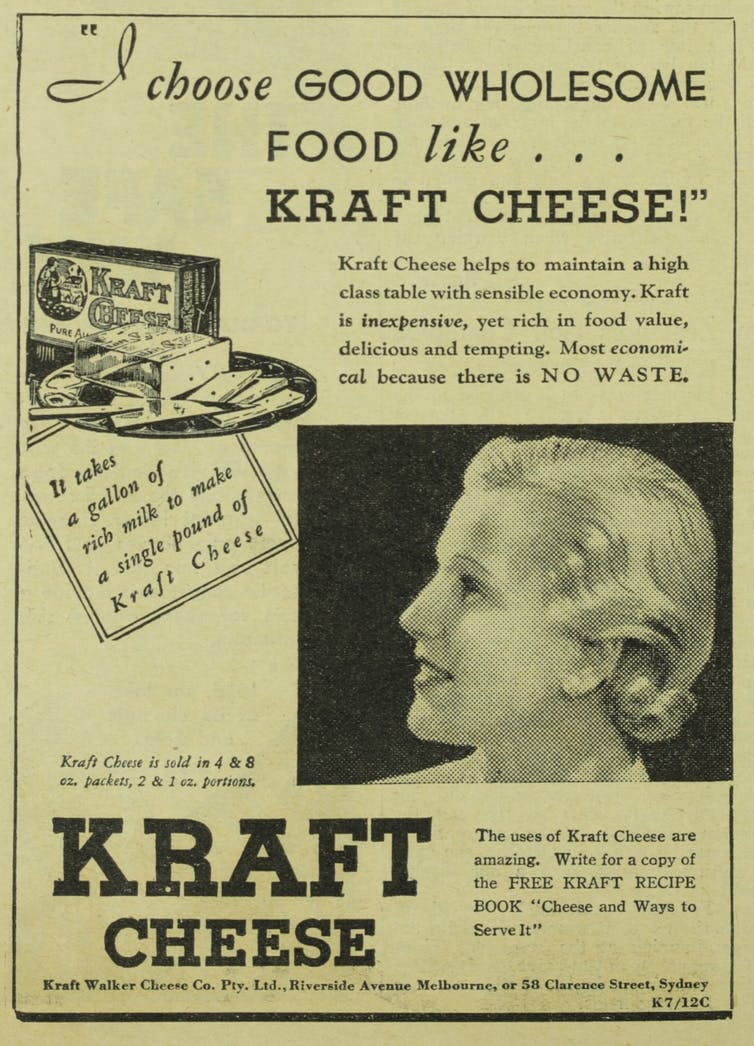 I choose good wholesome food like ... kraft cheese!