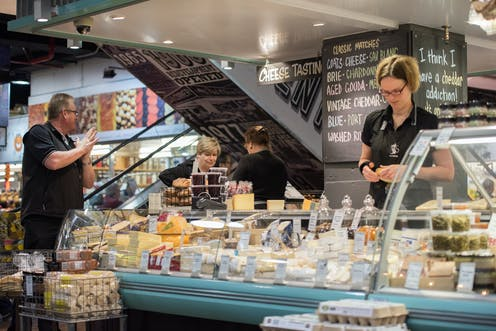 An artisan cheese shop at the Adelaide Central Markets