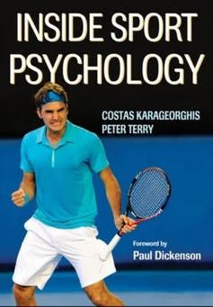 Inside Sport Psychology book cover featuring Roger Federer