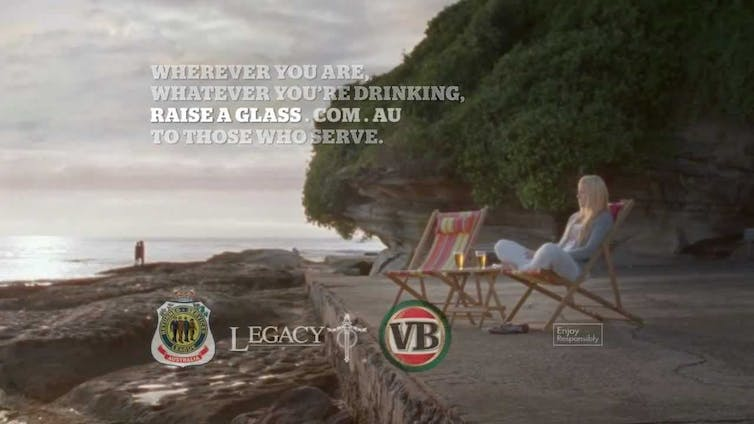 A Victoria Bitter 'Raise a Glass' campaign advert.