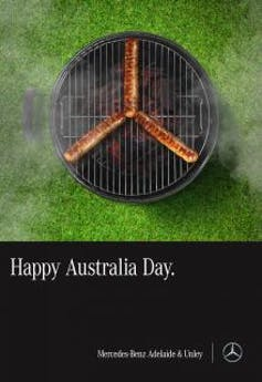 Mercedes Benz's 2018 Australia Day advert.
