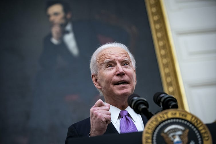 Joe Biden outlines his COVID-19 response at the White House