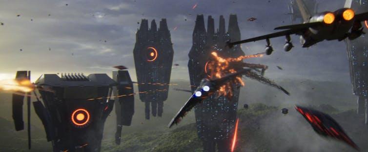 A spaceship battle