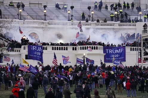 Rioters storm the U.S. Capitol on Jan. 6, 2021