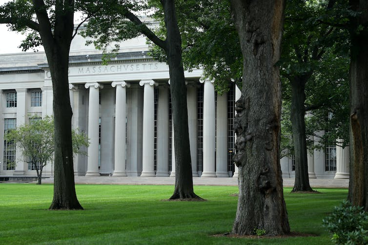 Columned building at MIT