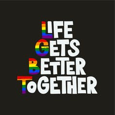 Life gets better together graphic.