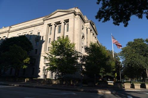 The U.S. Justice Department building in Washington, D.C.