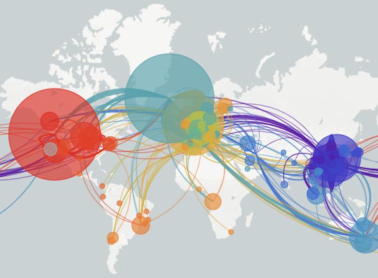 Carte des voies virales