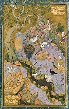 La Conférence des oiseaux peinte par Habib Allah