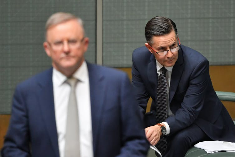 Anthony Albanese, left, and Mark Butler