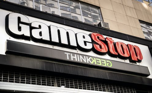 The front of a GameStop store on 14th Street in Manhattan