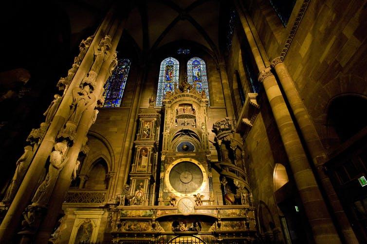 Ancient cathedral clock