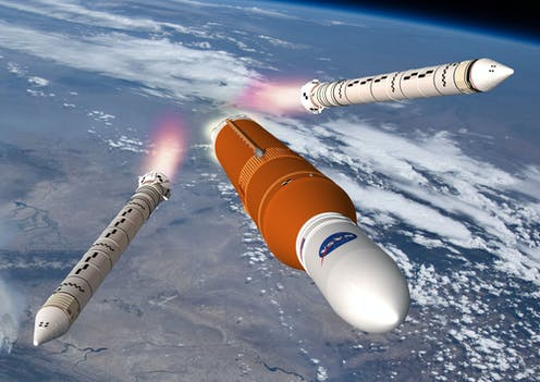 Artist's impression of Nasa Space Launch System