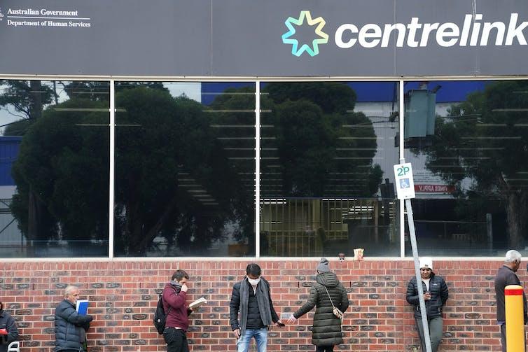 A queue outside Centrelink.