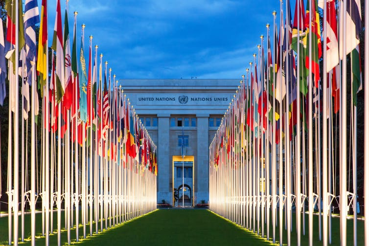UN headquarters in Geneva.