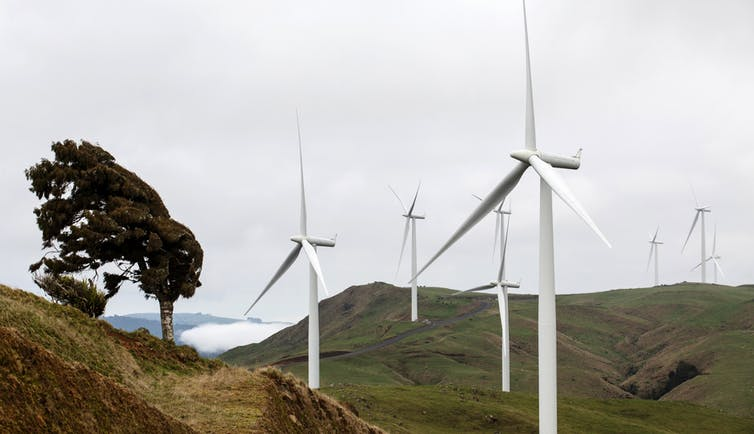 Wind farm in New Zealand