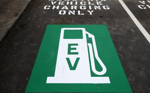Electric car charger symbol