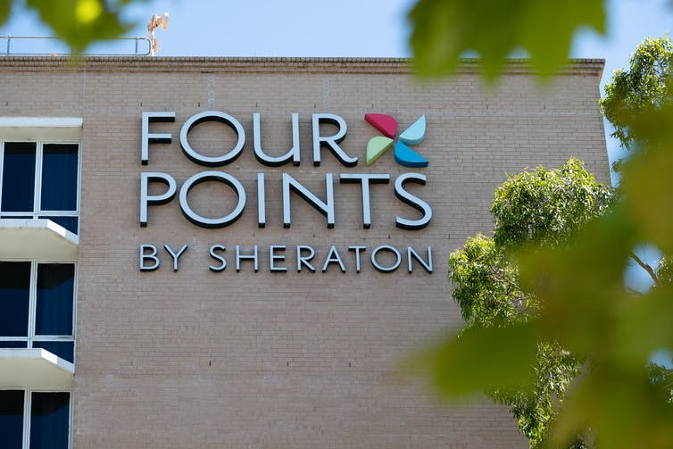 Sign saying 'Four Points by Sheraton'