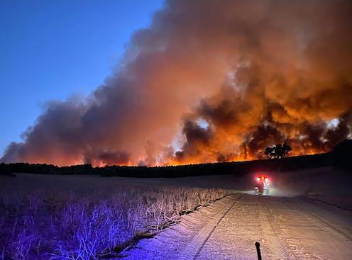 WA fires crest the horizon.
