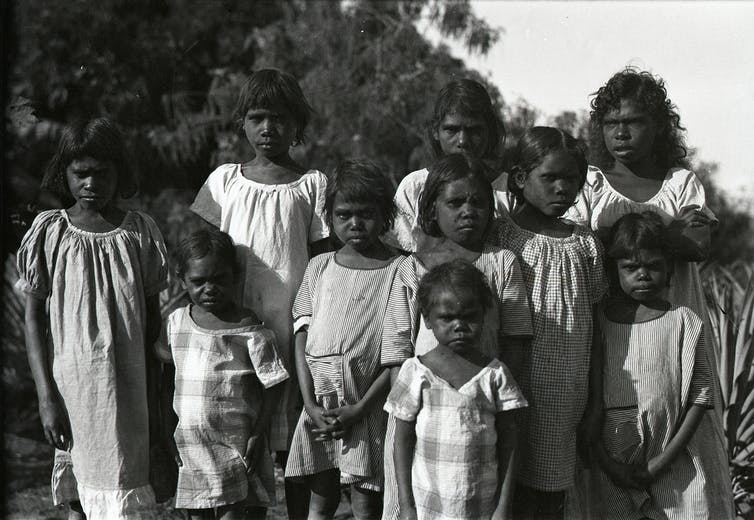 Group of girls at the Oenpelli Mission c.1930, Northern Territory Archives Service